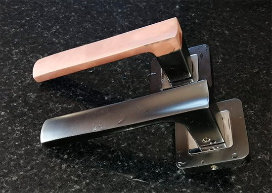 Copper Cover handles