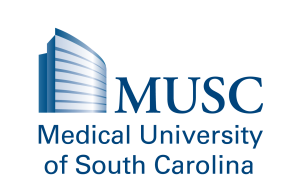 Image of the MUSC logo in blue on a transparent background (Medical University of South Carolina's logo